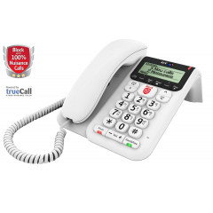 BT DECOR 2600 Corded Telephone With AM + Premium Call Blocking