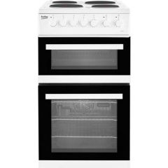 Beko EDP503W 50cm Double Oven Electric Cooker