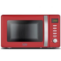 Beko MOC20200R Red 20 Litre 800W Retro Compact Microwave Oven