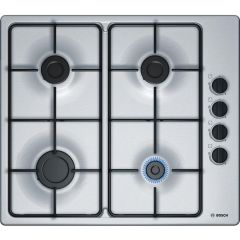 Bosch PBP6B5B80-C/I Serie 2 60cm 4 Burner Gas Hob with Cast Iron Supports