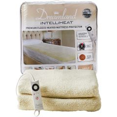 Dreamland 16303 Single Intelliheat Premium Fleece Heated Mattress Protector