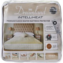 Dreamland 16304 Heated Fleece Fitted Double Mattress Protector