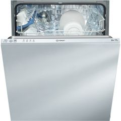 Indesit DIF04B1 13 Place Settings Integrated Full Size Dishwasher - White