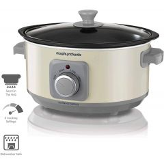 Morphy Richards 460013 Ivory Cream Sear and Stew Slow Cooker 3.5L