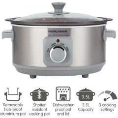 Morphy Richards 460018 Sear + Stew Slow Cooker