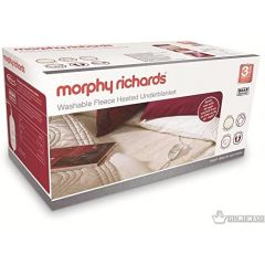 Morphy Richards 600003 Double Dual Fleece Washable Heated Underblanket