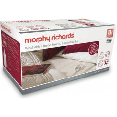 Morphy Richards 600012 Double Washable Fleece Heated Under Blanket