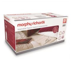 Morphy Richards 600013 Double Dual Control Washable Fleece Heated Under Blanket