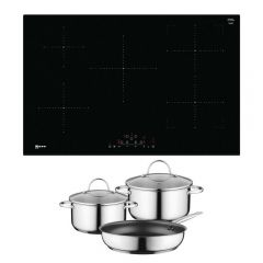 Neff T48FD23X2KIT Frameless Induction Hob with CombiZone and FREE Z943SE0 Pan Se
