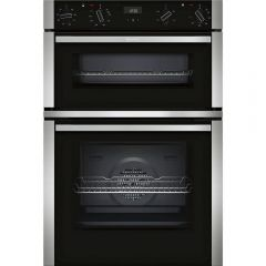 Neff U1ACE2HN0B N50 Electric CircoTherm Double Oven Oven - BLACK/STEEL - A Energy Rated