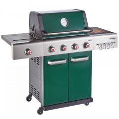 Outback OUT370765 GREEN JUPITER HYBRID 4 Burner Barbeque