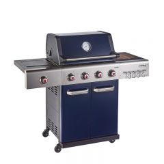 Outback OUT370766 BLUE JUPITER HYBRID 4 Burner Barbeque