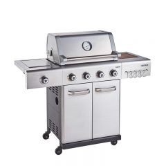 Outback OUT370767 S/STEEL JUPITER HYBRID 4 Burner Barbeque