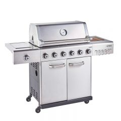 Outback OUT370768 S/STEEL JUPITER HYBRID 6 Burner Barbeque