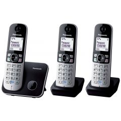 Panasonic KXTG6813EB Triple Handset Digital Cordless Phone