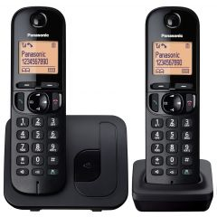 Panasonic KXTGC212EB Twin Handset Digital Cordless Phone