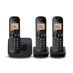 Panasonic KXTGC213EB Triple Handset Digital Cordless Phone