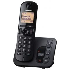 Panasonic KXTGC220EB Single Handset Digital Cordless Phone with Answerphone