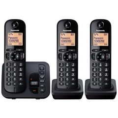 Panasonic KXTGC223EB Triple Handset Digital Cordless Phone with Answerphone