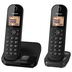 Panasonic KXTGC412EB Digital Cordless Phone (Twin Handset)