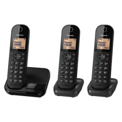 Panasonic KXTGC413EB Digital Cordless Phone (Triple Handset)