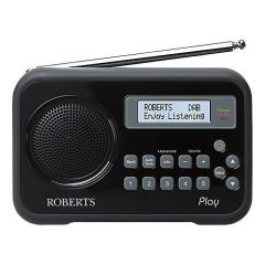 Roberts Radio PLAY BLACK DAB/DAB+/FM RDS Digital Radio with Built In Battery Charger