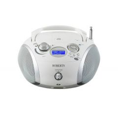 Roberts Radio ZOOMBOX 3 WHITE DAB/DAB+/FM RDS CD Player with SD and USB