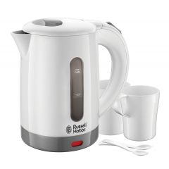 Russell Hobbs 23840 0.85L Travel Kettle with 2 Cups + Spoons