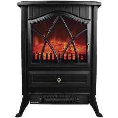 STATUS SFH-18001PKB 1800W Flame Effect Stove Heater