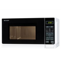 Sharp R272WM 20L 800W Solo Microwave Oven - White