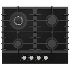 Statesman GH60GB 60cm Black Glass 4 Zone Gas Hob