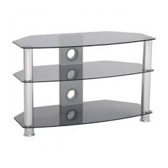 TTAP VANTAGE CURVE 800 TINT Chrome Legs/Tinted Glass 3 Shelf Stand