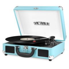 Victrola VSC550BT-TRQ Bluetooth Suitcase Turntable - Turquoise