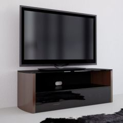 Vivanco 36151 A Series A1200W Walnut Stand with Black Glass for up to 50` TV