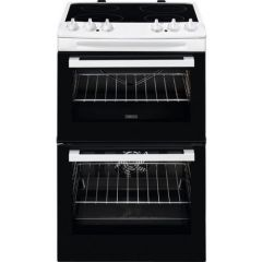 Zanussi ZCV46050WA 55cm Double Oven Electric Cooker