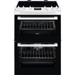 Zanussi ZCV66078WA 60cm Double Oven Electric Cooker
