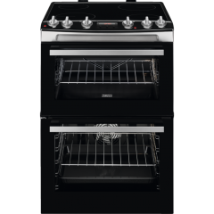 Zanussi ZCV66078XA 60cm Double Oven Electric Cooker